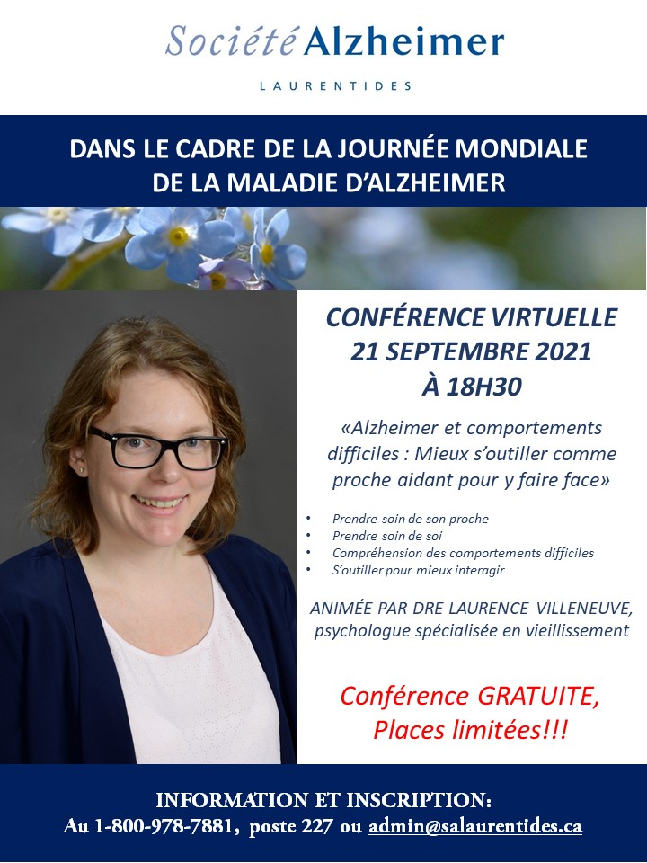 Conférence Dre Laurence Villeneuve_journée mondiale alzheimer 2021